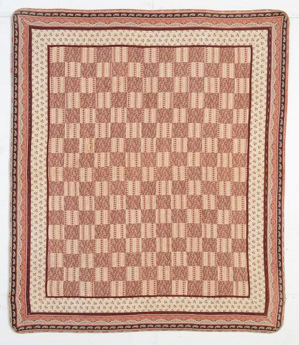 One Patch Youth Size Quilt: Circa 1880; Pennsylvania