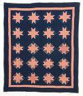 Amish Evening Stars Crib Quilt: Circa 1920
