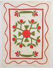 Rose of Sharon Crib Quilt: Circa 1870;Pennsylvania