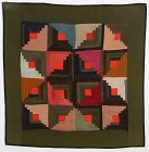 Mennonite Log Cabin/Star Crib Quilt; Circa 1910