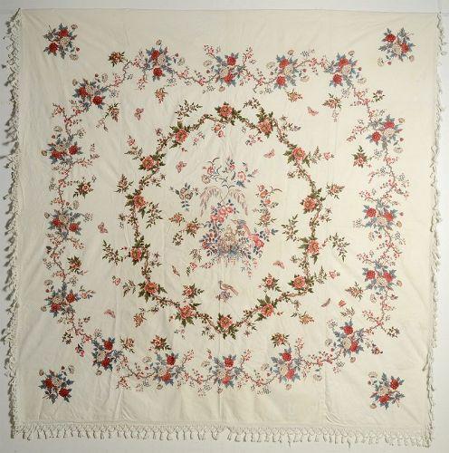 Broderie Perse Chintz Applique Quilt: Circa 1830; Maryland
