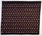 Illinois Amish Roman Stripe Quilt: Circa 1880's
