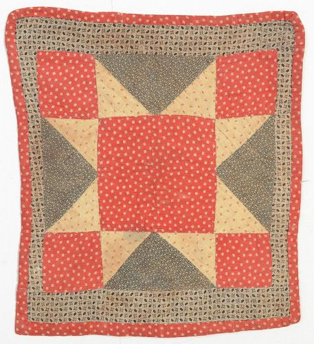 Evening Star Doll Quilt: Circa 1890;Pennsylvania
