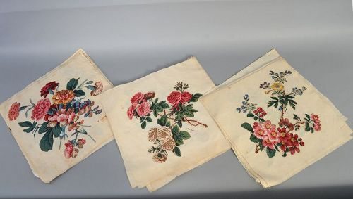 Broderie Perse Quilt Blocks; Signed and Dated 1842; Pa.