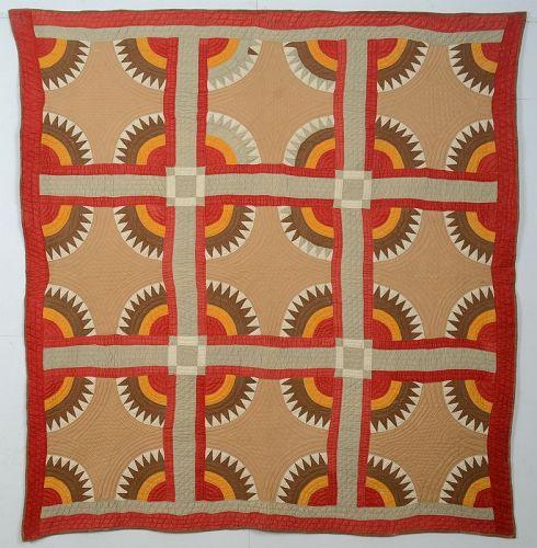 New York Beauty Quilt: Circa 1880