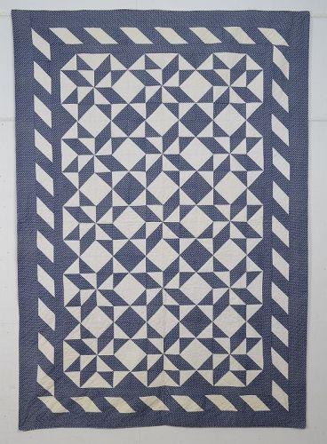 Pinwheel Stars Quilt: Circa 1890; Pennsylvania