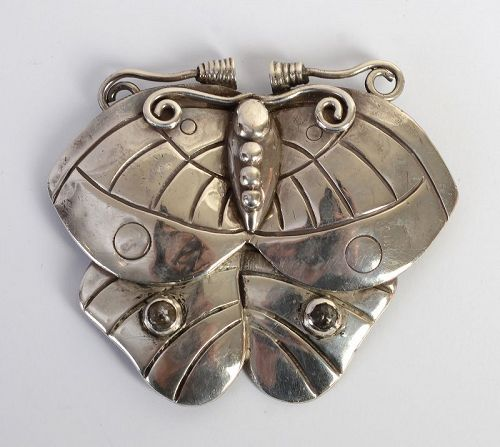 William Spratling Sterling Silver Butterfly Brooch; Circa 1940's