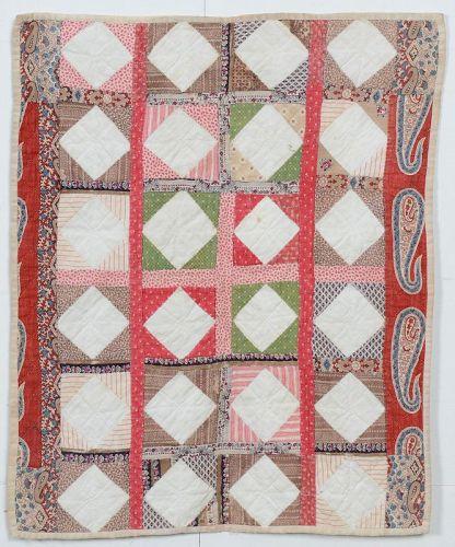 Economy Patch Doll Quilt: Circa 1870; Pennsylvania