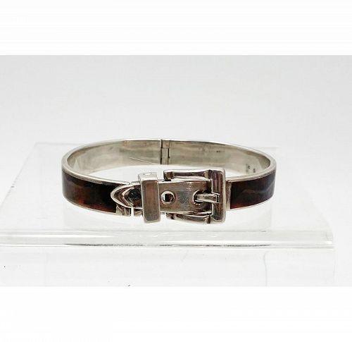 Enamel Buckle Bracelet: Circa 1960
