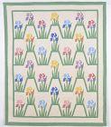 Mountain  Mist Iris Quilt: Circa 1930's; Pennsylvania