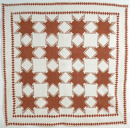 Feathered Stars Quilt: Maryland; Circa 1850