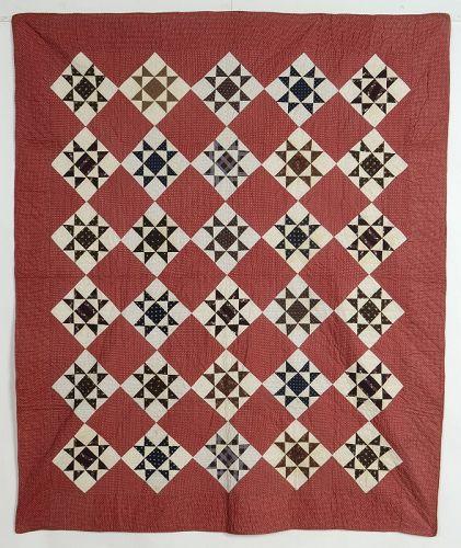 Ohio Stars Quilt: Circa 1880; Pennsylvania