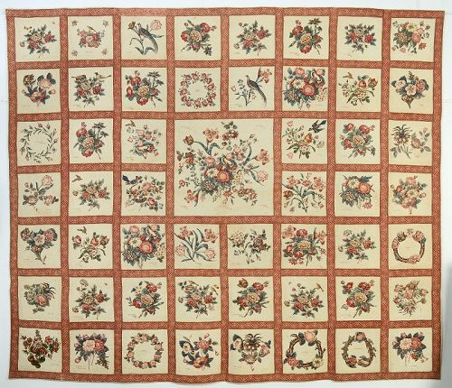 Broderie Perse Album Quilt: Circa 1845; Baltimore, Maryland