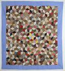 Tumbling Blocks Antique Quilt: Circa 1880; Pennsylvania