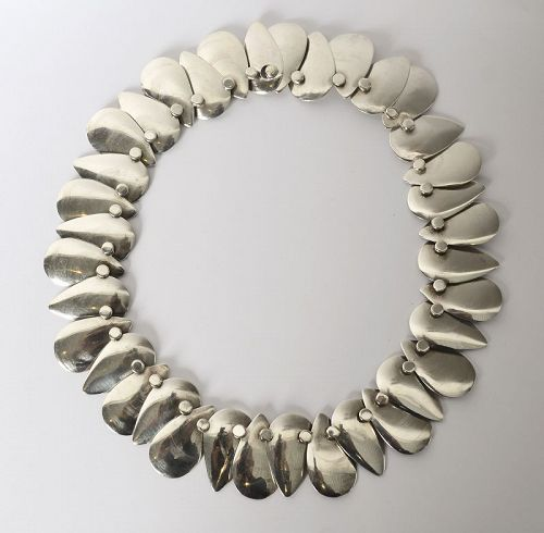 Hector Aguilar Sterling Silver Links Necklace