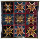 Velvet String Stars Antique Quilt: Circa 1920; Pennsylvania