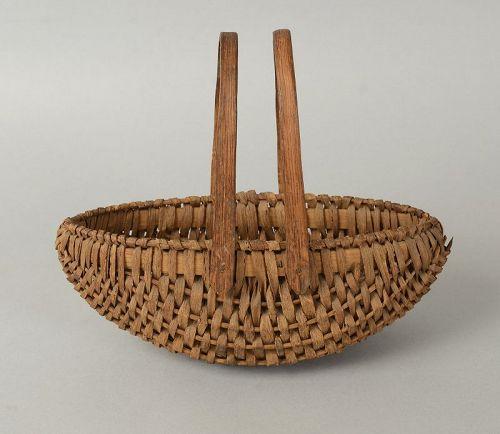 Double Swing Handle Basket; Circa 1900; Pennsylvania