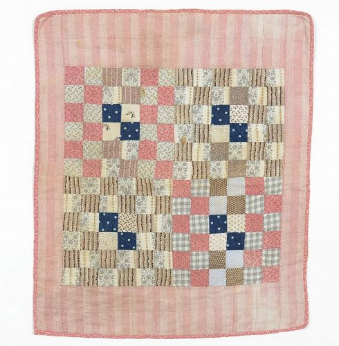 One Patch Doll Quilt: Circa 1880
