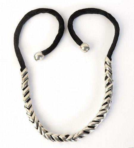 Antonio Pineda Sterling Silver Necklace on  Velvet; Circa 1960