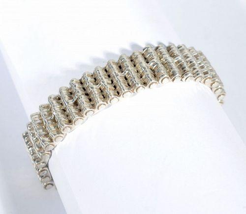 William Spratling Sterling Silver Industrial Design Bracelet