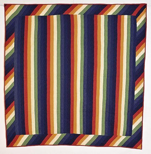 Mennonite Joseph's Coat Quilt; Circa 1880; Pennsylvania