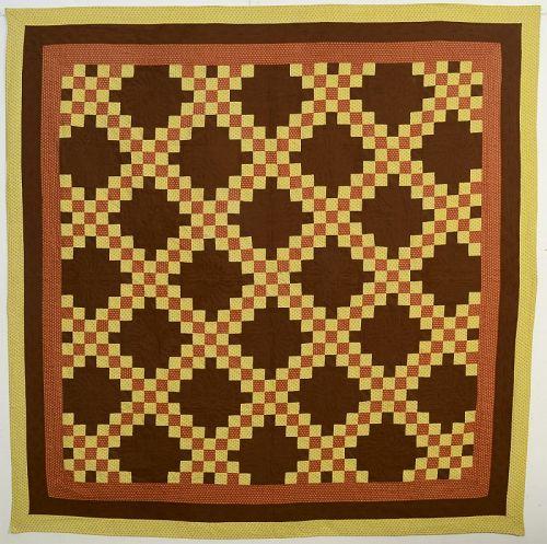 Irish Chain Quilt: Circa 1880; Maryland