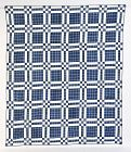 Early Windowpane with Nine Patch Quilt: Circa 1830