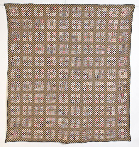 Postage Stamp Quilt with 16,665 Pieces; 1891; Pennsylvania