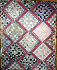 Streak of Lightning with One Patch Quilt; Oklahoma
