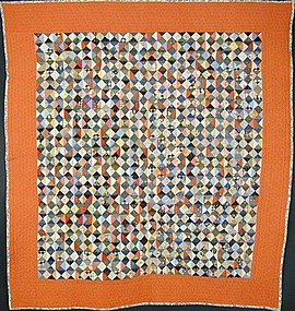 Broken Dishes Quilt: Circa 1930; Pennsylvania