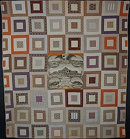 Centennial Bandanna Quilt with Log Cabin Pattern