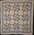Pinwheel Stars Quilt: Circa 1930; Pennsylvania