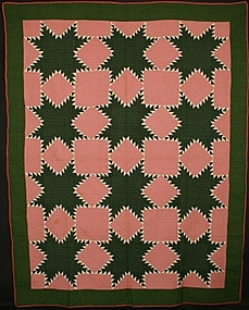 Feathered Stars Quilt: Circa 1870; Pennsylvania