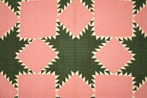 Feathered Stars Quilt: Circa 1870; Pennsylvania