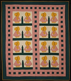 Sunbonnet Sue Quilt: Dated 1932; Pennsylvania