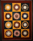 Russian Sunflower Quilt: Circa 1870