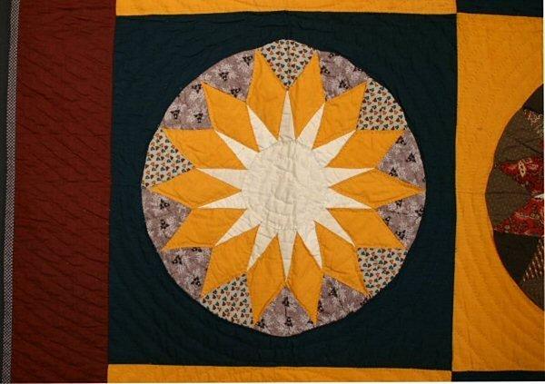Russian Sunflower Quilt: Circa 1870