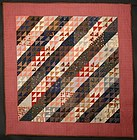 Birds in the Air/Straight Furrows Quilt: Ca. 1890; Pa.