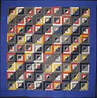 Straight Furrows Log Cabin Quilt: Circa 1910; Pa.