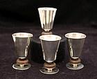 Set of Four William Spratling Tequila Cups