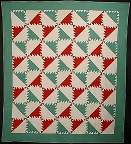 Kansas Troubles Quilt: Circa 1910; Pennsylvania