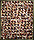 Silk Honeycomb Quilt: Circa 1860; Pennsylvania