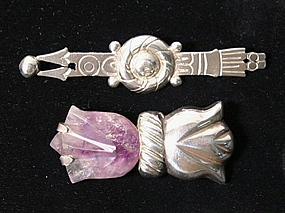 William Spratling Sterling Brooches