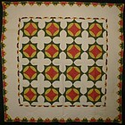 Caesar's Crown Quilt: Circa 1840; Pennsylvania
