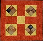 Four Patch Crib Quilt: Circa 1880; Pennsylvania