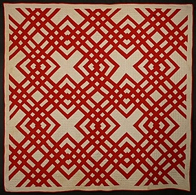 Carpenter's Square Quilt: Circa 1890; Pennsylvania