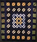 Amish Jacob's Ladder Quilt: Circa 1930; Pennsylvania