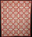 Garden Maze Quilt with Stars; Circa 1870; Pennsylvania