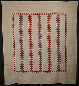 Flying Geese Quilt: Circa 1880; North Carolina