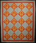 Mennonite Baskets Quilt: Circa 1920; Pennsylvania